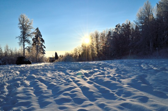 Geobilen i snön