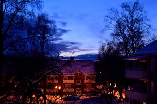 Kvällshimmel från balkongen