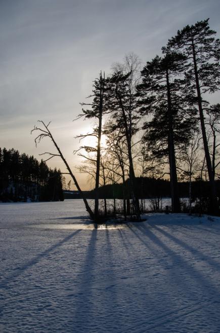 Solnedgång i Lien