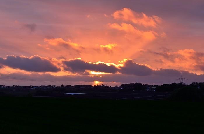 Solnedgång i Sandnes