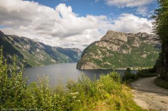 Fjorden in mot Frafjord