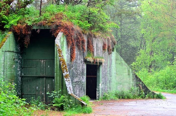 En gömd hangar