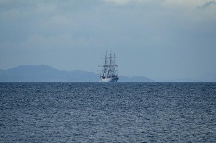 Vackert skepp på havet