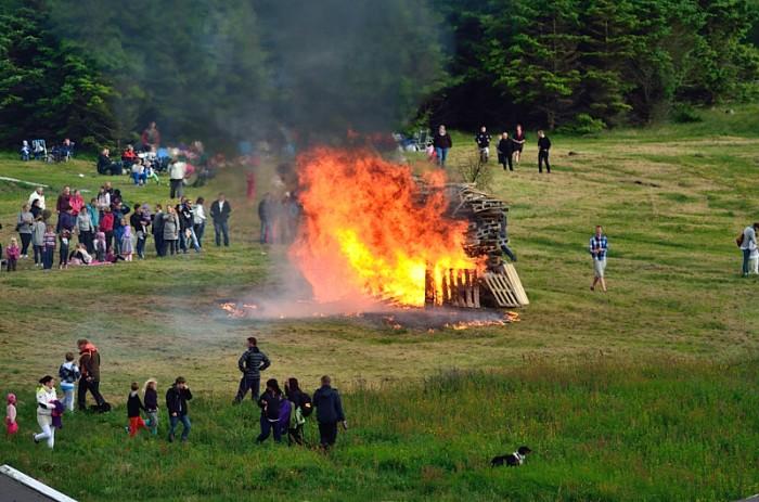 Bålet på  Ølberg
