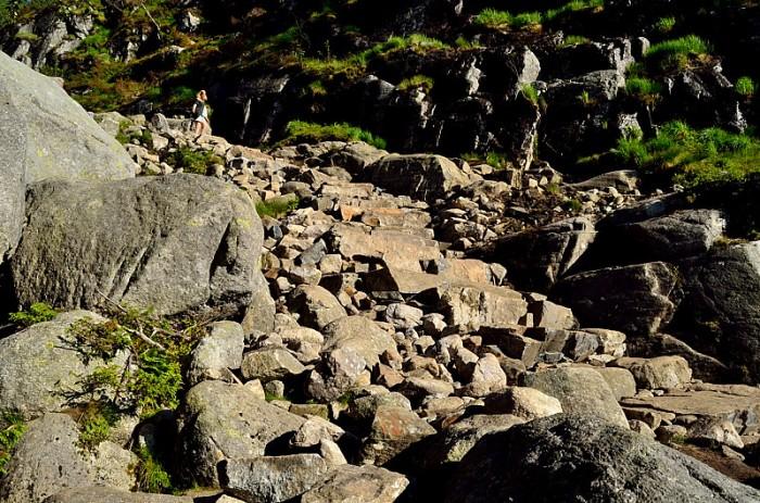 Sherpas-byggd trappa