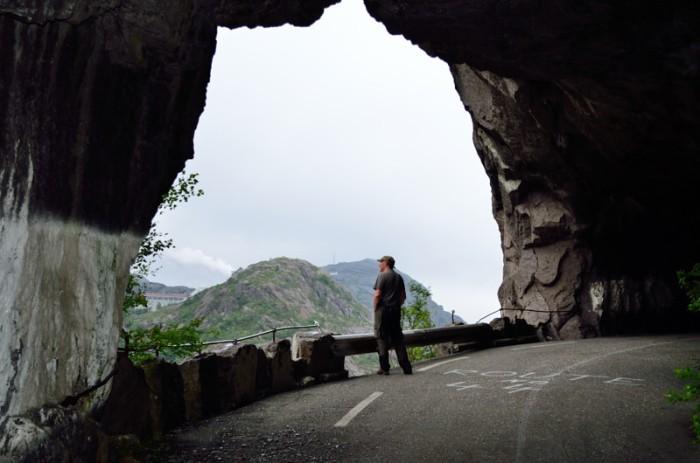 Inifrån gamla tunneln