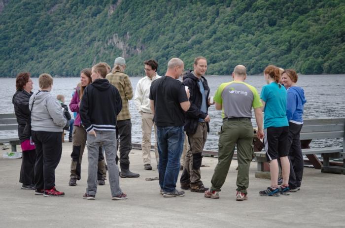 Eventet längst inne i fjorden