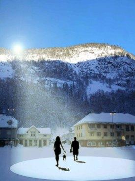 Visionen med solspeglarna i Rjukan
