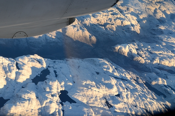 Snötäckta berg
