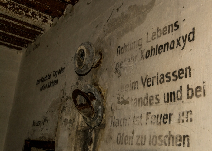Text på väggarna