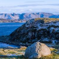En ö i Hafrsfjord