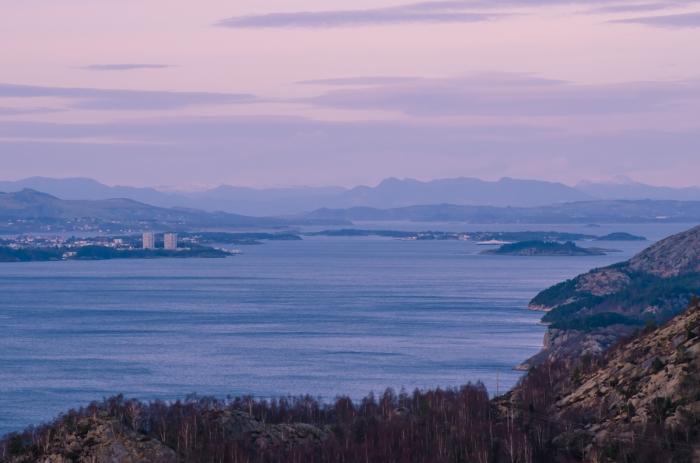 Utsikt över fjorden