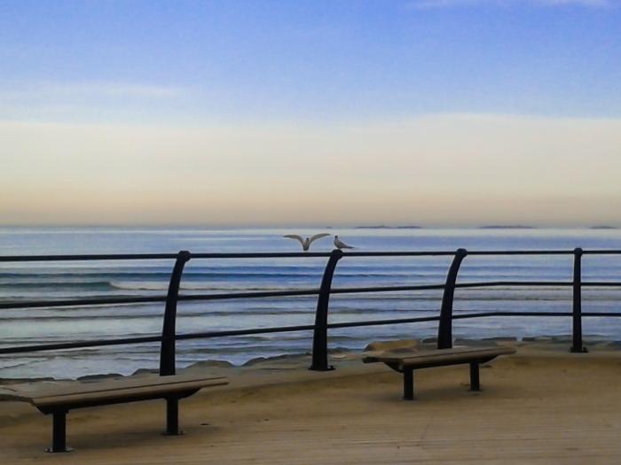 Morgon på Sola Strand