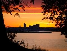Solnedgång på Björnö