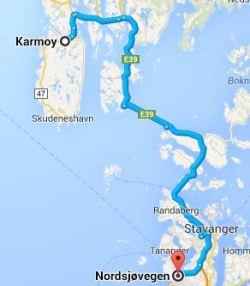 Vägen till Karmøy