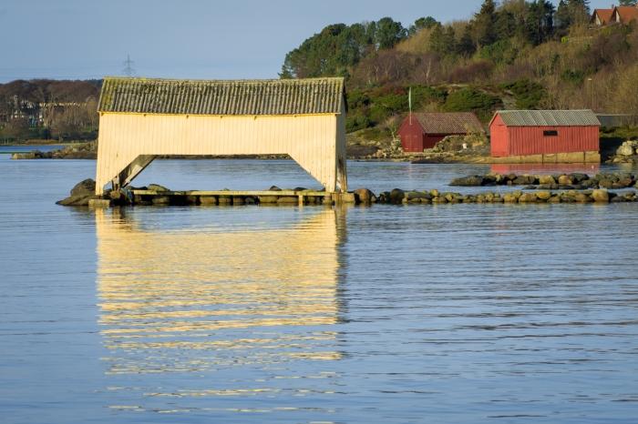 Båthus vid Hafrsfjord
