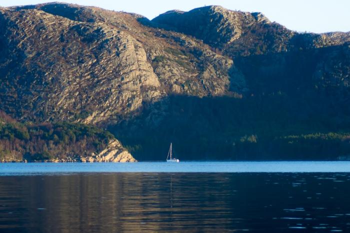 En båt i Gandsfjorden