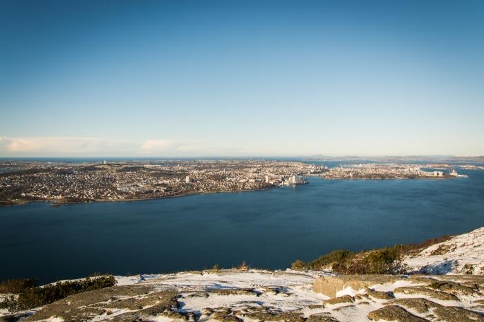 Stavanger från Lifjellet