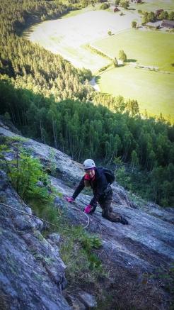 Annika klättrar