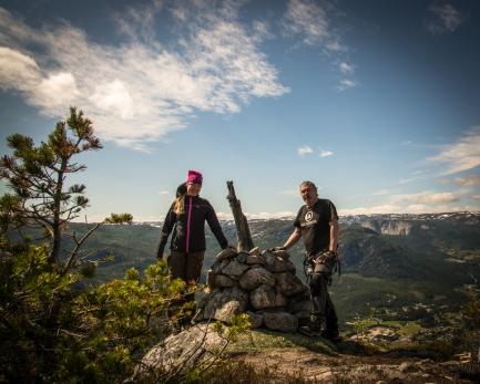 Vi på toppen av Straumsfjellet