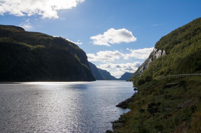En fjordlik sjö