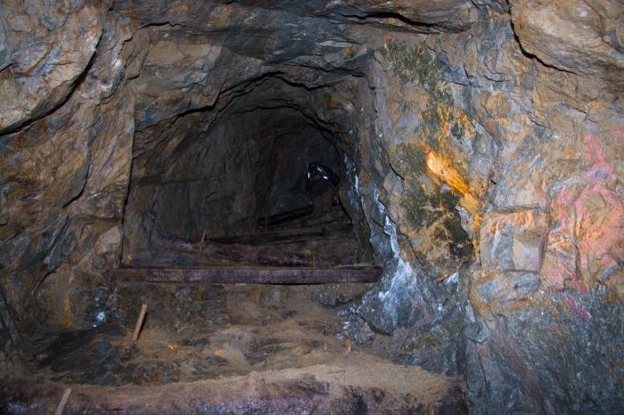 Klättring i gruvan
