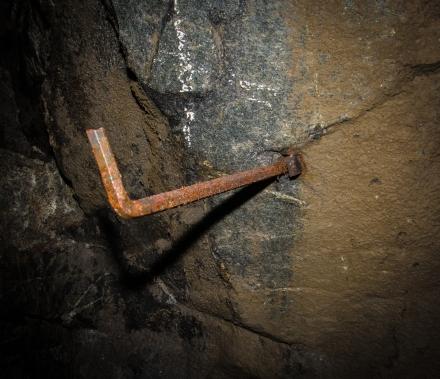 Rostig detalj i gruvan
