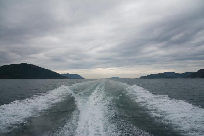 På väg till Lysefjorden