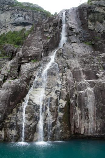 Vattenfall i Lysefjorden