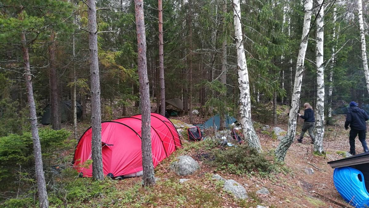 Vintercamping vid Tjurlången