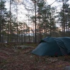 Vi tältar i Lappland