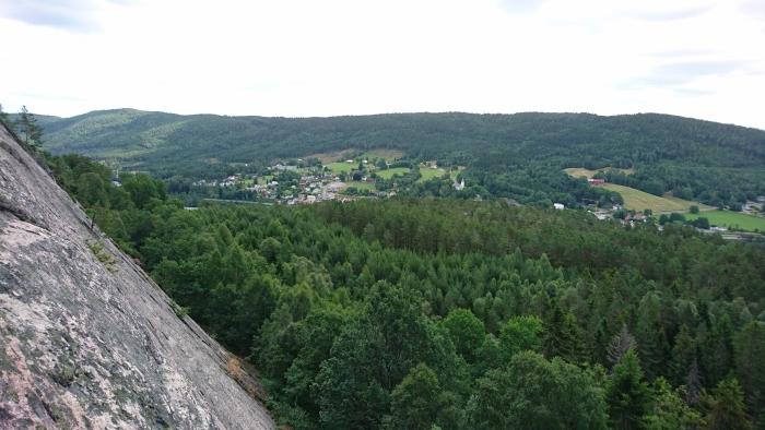 Utsikten halvvägs upp