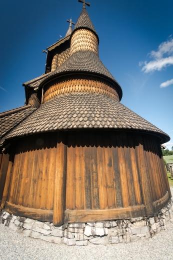 Ett av tornen Heddal stavkyrka