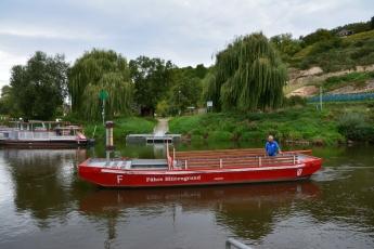 Färjan över floden Saale