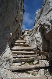 Trappsteg i berget
