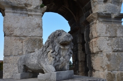 Lejon som vaktar Arenan