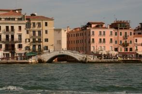 Vy från båten till Venedig