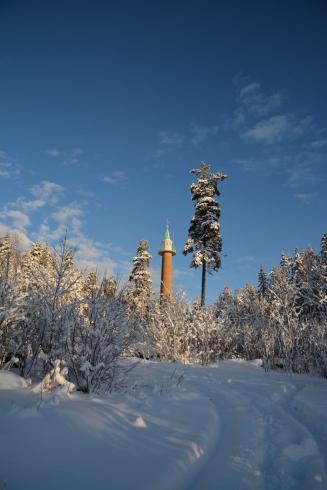 Det gamla flygbevakningstornet i Fagersta