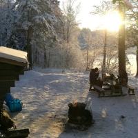 Vintercamping i snö och kyla