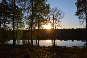 Solnedgång vid Lilla Älgsjön