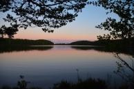 Sen kväll vid Östra Skälsjön