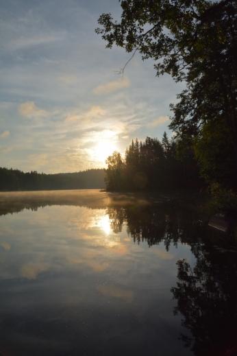 Morgon-magi vid Lilla Älgsjön