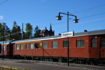 Gamla tågvagnar i Ängelsberg