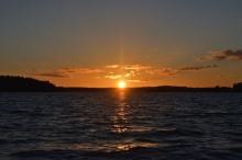 Solnedgång på Åmänningen