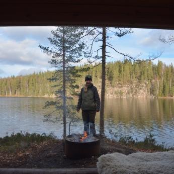Annika vid Vargbergets naturreservat