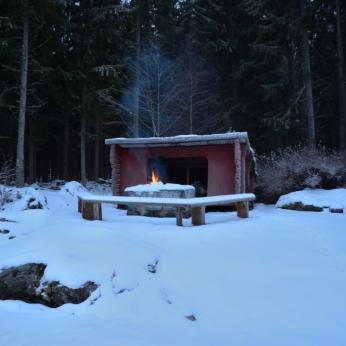 Vindskyddet i Trummelsberg