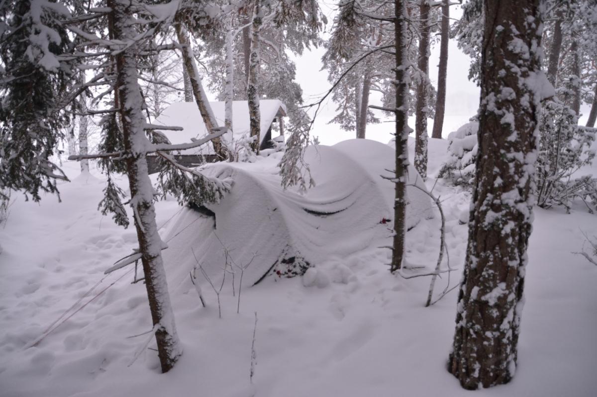 Vintercamping-event vid Tjurlången
