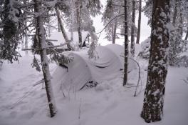 Vårt tält - en igloo