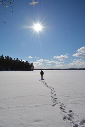 På isen i Skeppmoraviken