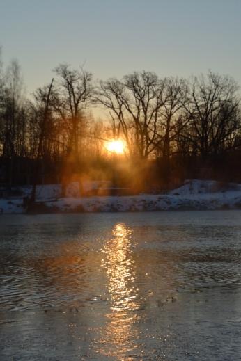 Morgonsol och dimma, Strömsholms kanal